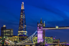 Skyline de Londres com ponte da torre Foto de Stock Royalty Free