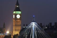 Skyline de Londres no crepúsculo Imagem de Stock