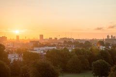 Skyline de Londres vista do monte da prímula Foto de Stock