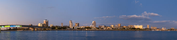 Skyline de Long Beach Fotografia de Stock