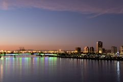 Skyline de Long Beach Foto de Stock Royalty Free