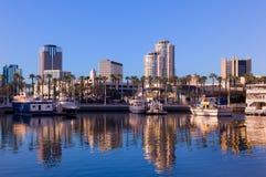 Skyline de Long Beach foto de stock royalty free