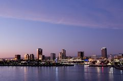 Skyline de Long Beach Fotos de Stock Royalty Free