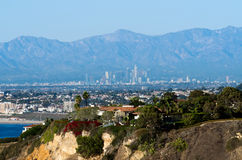 Skyline de Los Angeles Imagem de Stock Royalty Free
