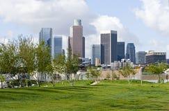 Skyline de Los Angeles do parque Foto de Stock