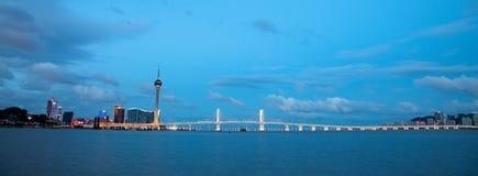 Skyline de Macau, China imagem de stock
