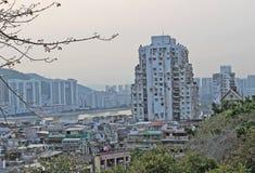 Skyline de Macau de Guia Fortress Imagem de Stock