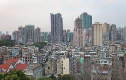Skyline de Macau de Guia Fortress Foto de Stock