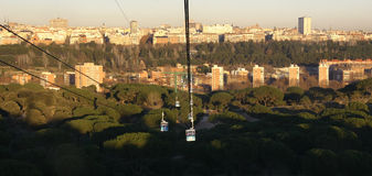 Skyline de Madrid fotos de stock royalty free