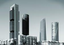 Skyline de Madrid fotografia de stock royalty free