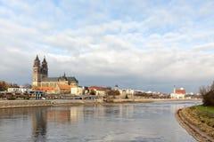 Skyline de Magdeburgo Fotos de Stock Royalty Free