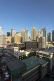 Skyline de Makati em Manila - Filipinas Fotografia de Stock