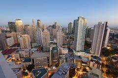 Skyline de Makati em Manila - Filipinas Fotografia de Stock Royalty Free