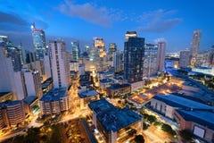 Skyline de Makati (Manila - Filipinas) Fotografia de Stock Royalty Free
