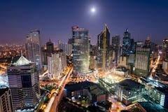 Skyline de Makati, Manila, Filipinas imagens de stock