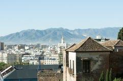 Skyline de Malaga imagens de stock