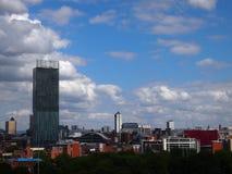 Skyline de Manchester Reino Unido imagens de stock