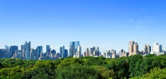 Skyline de Manhattan imagem de stock royalty free