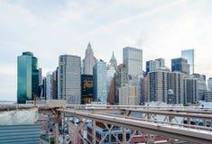 Skyline de Manhattan Imagens de Stock Royalty Free