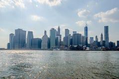 Skyline de Manhattan Imagens de Stock
