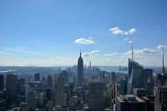 Skyline de Manhattan do centro de Rockefeller imagens de stock royalty free