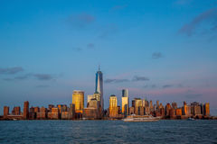 Skyline de Manhattan do jérsei Imagem de Stock Royalty Free