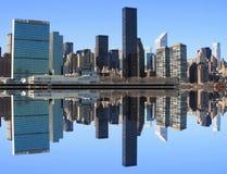 Skyline de Manhattan do Midtown fotografia de stock royalty free