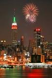 Skyline de Manhattan do Midtown Foto de Stock