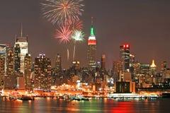 Skyline de Manhattan do Midtown Imagens de Stock
