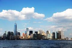 Skyline de Manhattan em New York Fotos de Stock Royalty Free