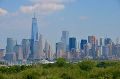 Skyline de Manhattan, NYC Fotos de Stock Royalty Free