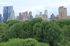 Skyline de Manhattan sobre o Central Park Imagem de Stock