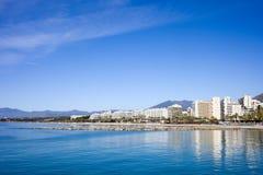 Skyline de Marbella em Spain Fotografia de Stock