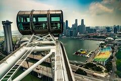 Skyline de Marina Bay Sands And Singapore vista do inseto de Singapura Fotos de Stock
