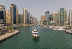 A skyline de Marina Dubai fotografia de stock royalty free