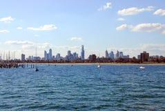Skyline de Melbourne. Imagens de Stock
