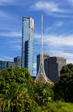 Skyline de Melbourne CBD Foto de Stock Royalty Free