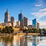 Skyline de Melbourne foto de stock