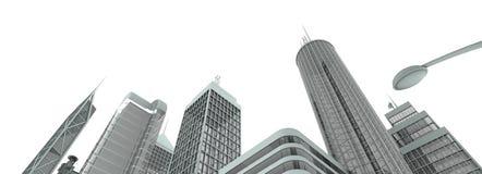 Skyline de Metropolyn foto de stock