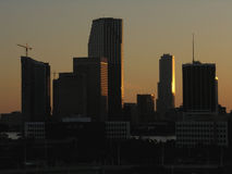 Skyline de Miami Foto de Stock Royalty Free