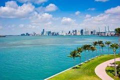 Skyline de Miami Foto de Stock Royalty Free