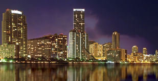 Skyline de Miami Imagem de Stock