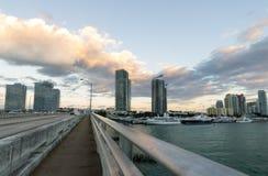 Skyline de Miami fotografia de stock