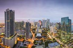 Skyline de Miami Foto de Stock