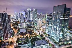 Skyline de Miami imagem de stock royalty free