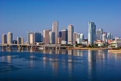 Skyline de Miami Fotos de Stock Royalty Free