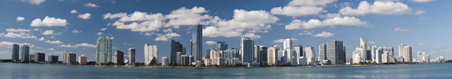 Skyline de Miami Beach Fotografia de Stock Royalty Free