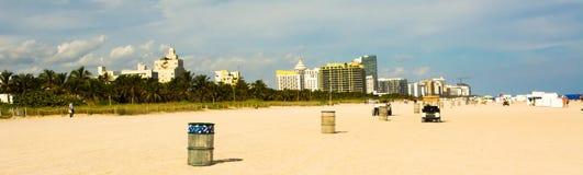 Skyline de Miami Beach Foto de Stock Royalty Free