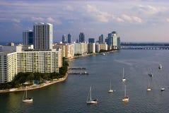 Skyline de Miami Beach Imagens de Stock