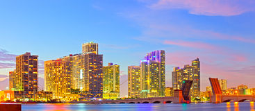Skyline de Miami Florida Fotografia de Stock